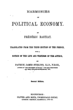 essays on political economy by frederic bastiat The economics of freedom what your professors won't tell you selected works of frédéric bastiat foreword by fa hayek closing essay by tom g palmer students for liberty jameson books, inc.